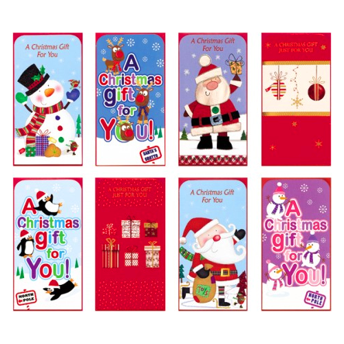 chistmas money wallets gift card wallet 4 pack christmas money wallet idea - Christmas Card Money Holder