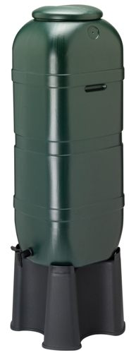 Strata Space Saver Slimline 100 Litre Water Butt With Stand-1015