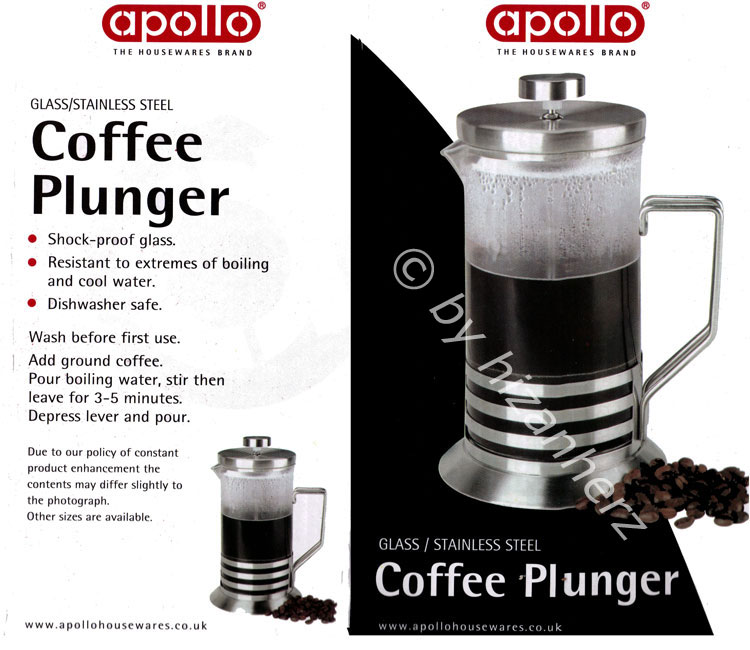 Apollo Stainless Steel 800ml Glass Coffee Plunger Ap9574