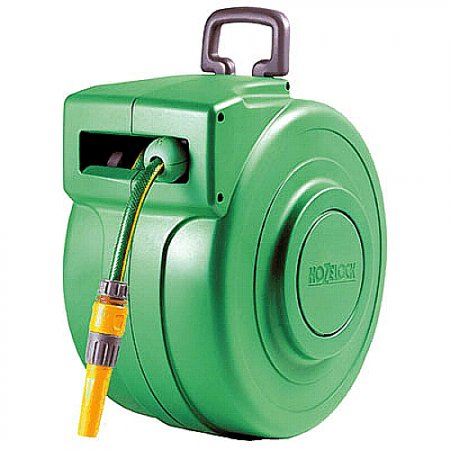 Hozelock Auto Hose reel 2490 Retractable Wall Mounted Reel