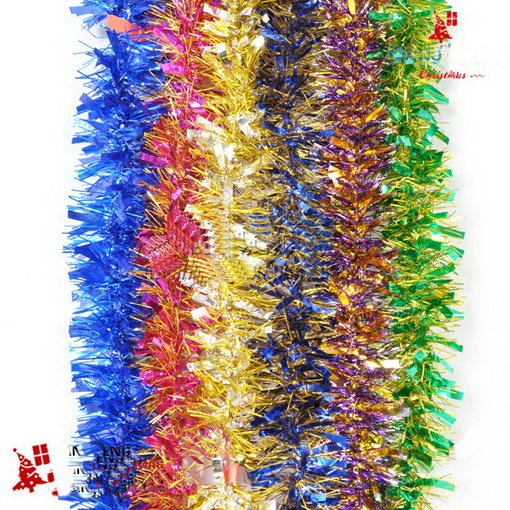 M tinsel christmas garland assorted colours